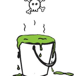 detoxikace - kyblík s toxiny