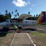 Přistání na Fidži