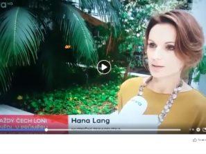 Hana Lang v Televizních novinách TV Nova
