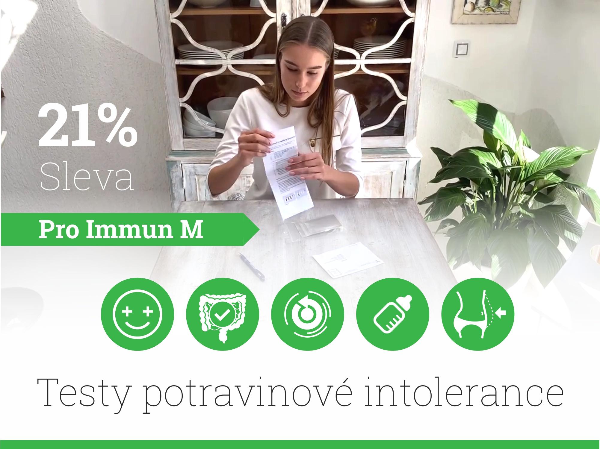 21 % sleva na testy potravinové intolerance Pro Immun M